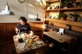 Jasmine having heavenly breakfast <3