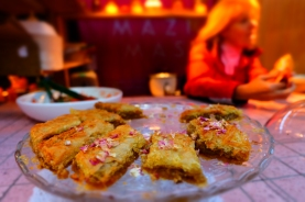 Authentic rosepetal baklava